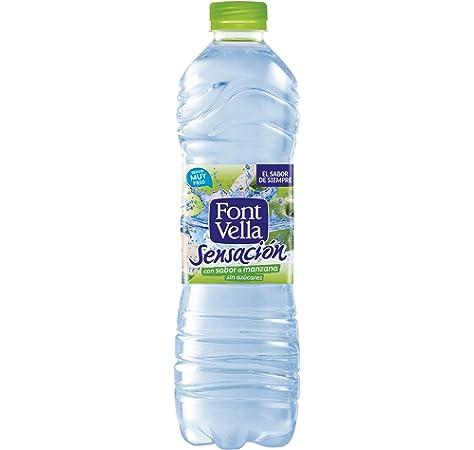 Font Vella Sensación, Agua Mineral Natural sabor manzana - Botella 1,25L: Amazon.es: Alimentación y bebidas