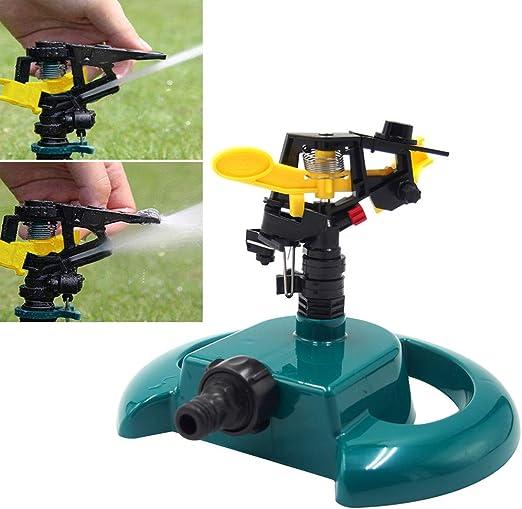 HONG98 Aspersor automático de Agua Giratorio de 360 Grados/Aspersor para jardín de/Sistema de riego con Boquilla aspersor nebulizador rociador para césped/Aspersor del Jardín y Césped (Verde): Amazon.es: Jardín