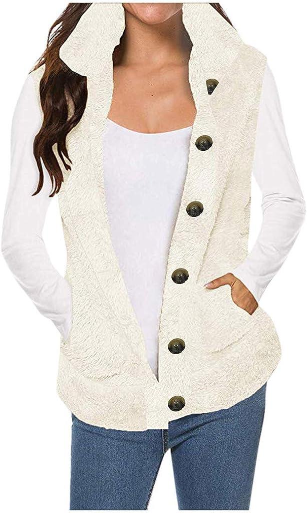 Fashion Casual Womens Lady Faux Fur Solid Sleeveless Warm Vest Waistcoat Jacket