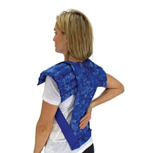 Set of Upper Body + Spine & Back Pack – Microwavable Heating Pads for Neck, Shoulder, Back, Abdominal Pain & Stress Relief by Nature Creation (Blue Flowers)