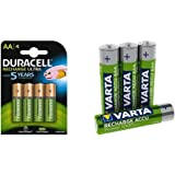 Duracell Ultra HR6DX1500 Akkus mit geringer Selbstentladung (2500mAh) 4er Pack + Varta Rechargeable Accu Ready2Use vorgeladener AAA Micro Ni-Mh Akku 4er Pack 1000 mAh
