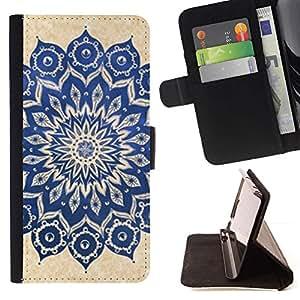 Momo Phone Case / Flip Funda de Cuero Case Cover - Yoga Zen Paz Floral Pattern - Samsung Galaxy S5 V SM-G900