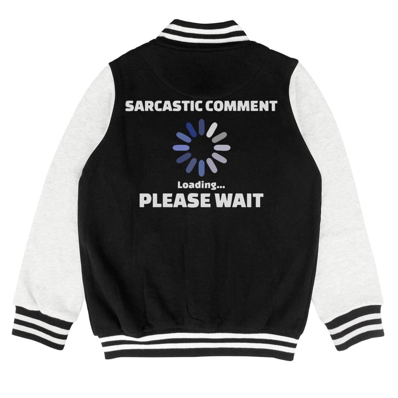 PoPBelle Kids Sarcastic Comment Loading Please Wait Little Girls Training Jacket for Girls Boys Hip-Pop Outerwear Coats