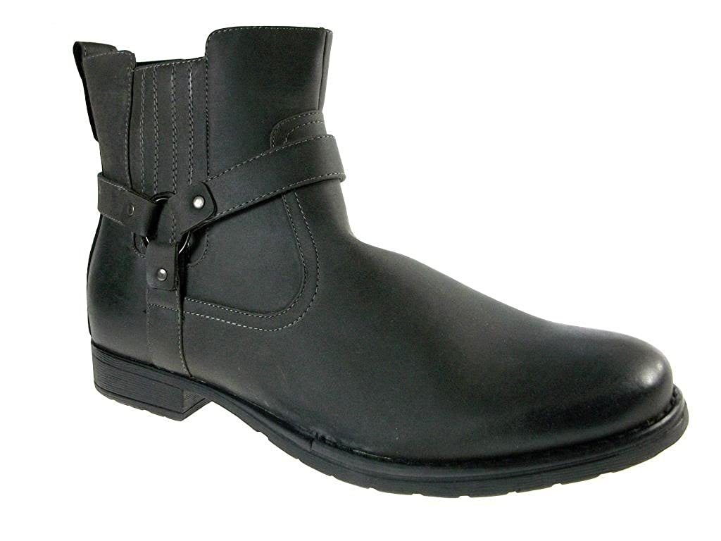 Men's 686 Round Toe Ankle High Riding Boots TF686Gry158Sz