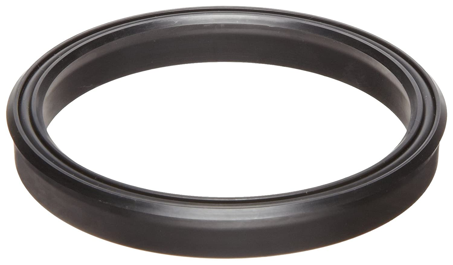 Lip Seal, Rectangular Profile, Buna-N O-Ring Loaded, Urethane, 1/8
