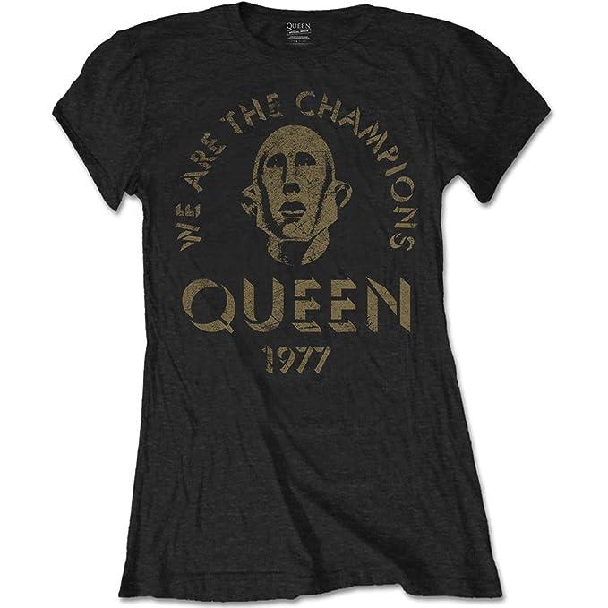 Ladies Queen We Are The Champions Rock oficial Camiseta mujeres señoras: Amazon.es: Ropa y accesorios