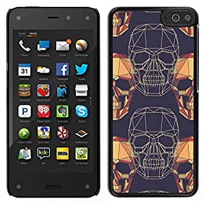 For Amazon Fire Phone , S-type® Polygon Art Vignette Yellow Wireframe - Arte & diseño plástico duro Fundas Cover Cubre Hard Case Cover