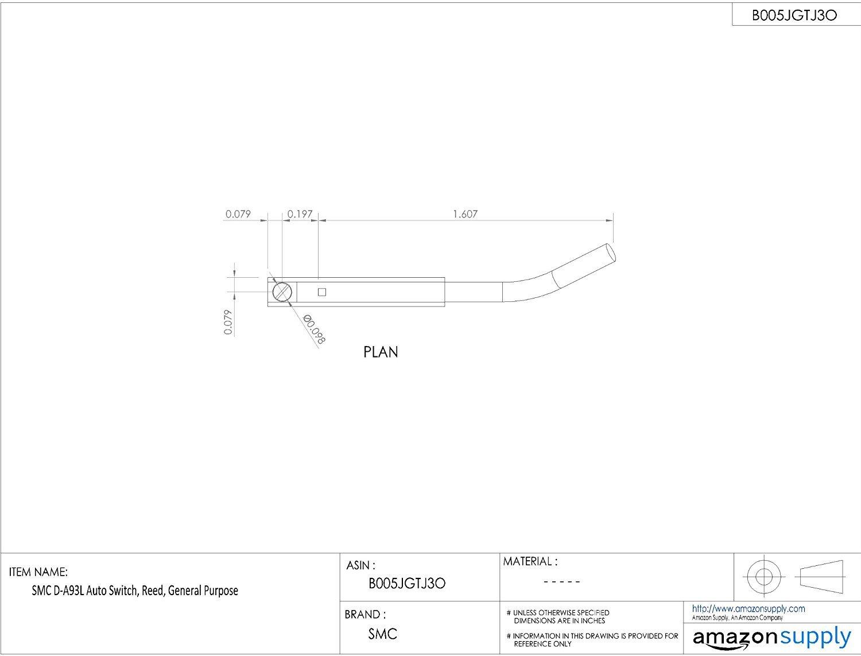 SMC D-A93L Auto Switch, Reed, General Purpose