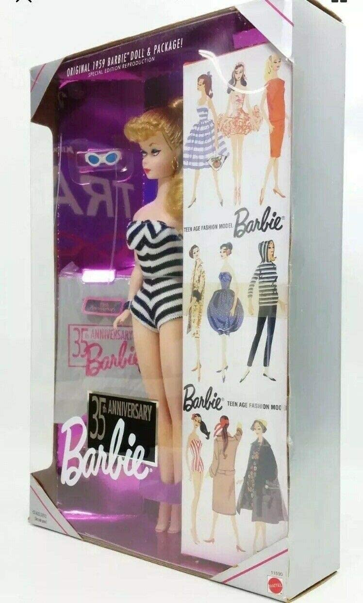 Mattel 35th Anniversary Barbie Doll 1959 Spesial Edition Reproduction 1993