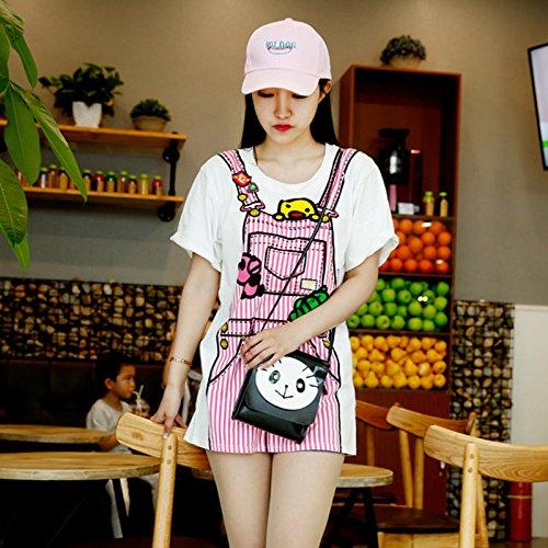 Girl Women Style Bag Bag Small Messenger Bag Summer For Black Shoulder Panda Phone Skyeye Bag Ladies Shoulder Bag taHqZw8