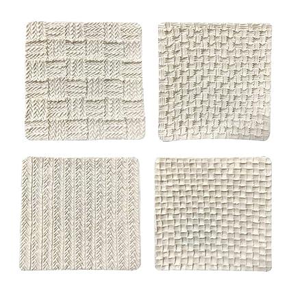 Amazon Com Fondant Impression Mat Sweater Texture Design Silicone