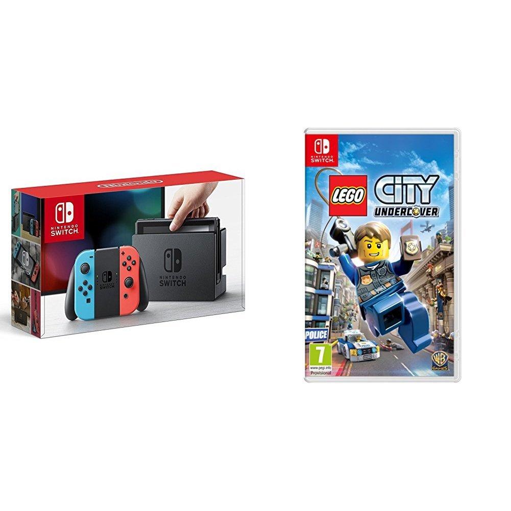 Nintendo Switch - Consola, color azul neón/rojo neón + Lego ...