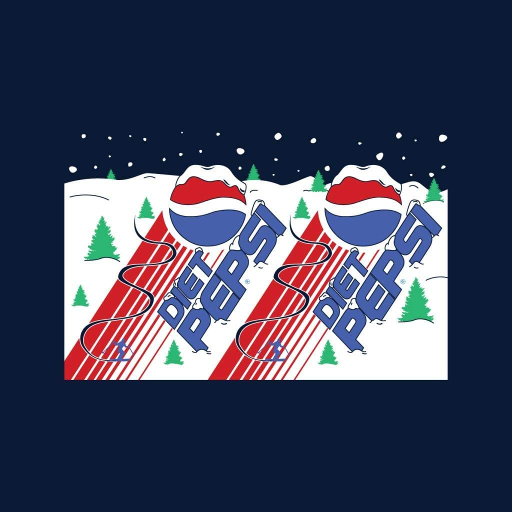 Pepsi Diet Alpine Ski Christmas Men's Varsity Jacket Navy/White