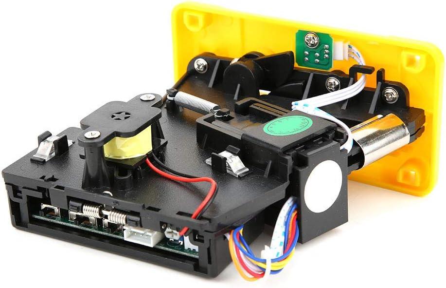 SALUTUYA con indicación LED, DC + 12V ± 10%, -15 ℃ ~ + 15 ℃, Plata, Amarillo, Selector de Monedas, para máquina de Venta de Agua para máquinas expendedoras(Yellow)