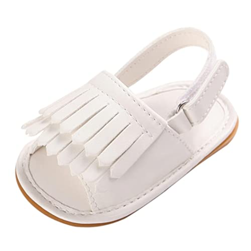 Culater? Ragazza del bambino pattini della greppia Newborn Fiore morbida suola antiscivolo Sandali Sneakers (3, Bianca)