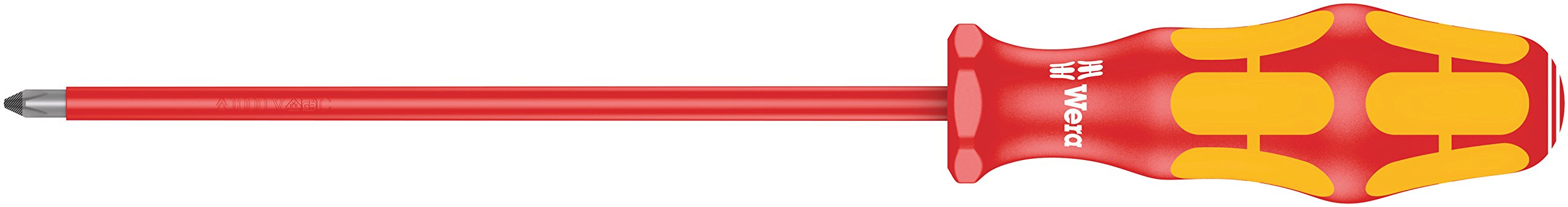 Wera 05006153001 Kraftform Plus VDE 162i PH Phillips Insulated Screwdriver, PH 1 Head, 6'' Blade Length by Wera