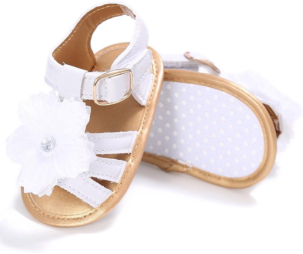 Estamico Infant Baby Girls Flower Summer Sandals Toddler First Walkers