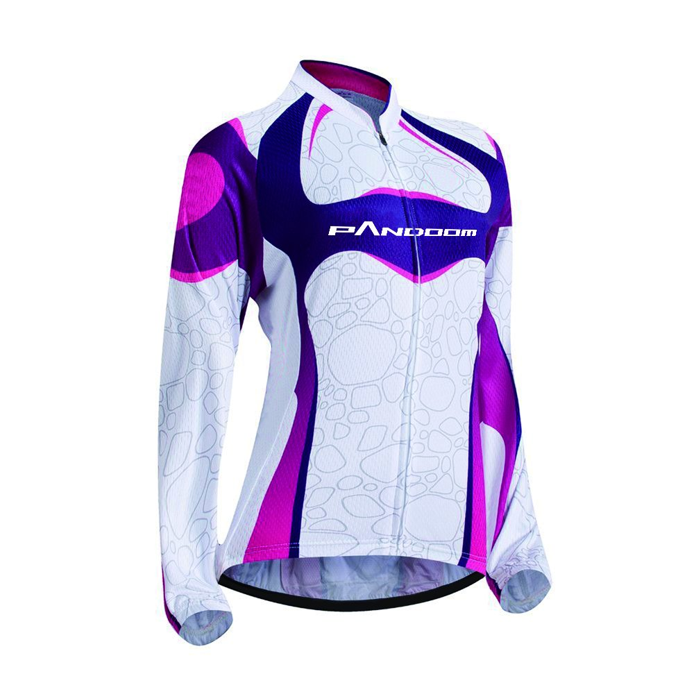 PANDOOM Outdoor Sports Womens Breathable Cycling Long Sleeve Jersey Bike Jersey Jiangrun
