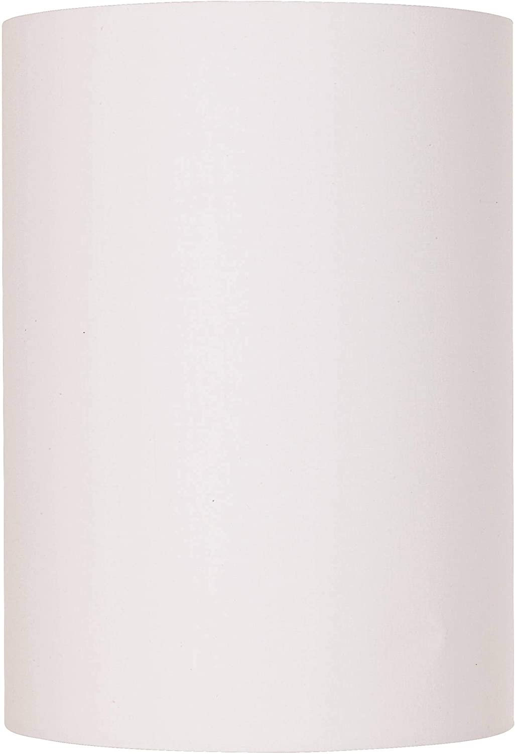 White Cotton Small Drum Cylinder Shade 8x8x11 (Spider) - Brentwood
