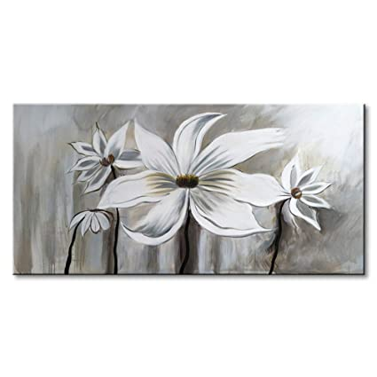Amazoncom Seekland Art Hand Painted Flower Oil Painting On Canvas