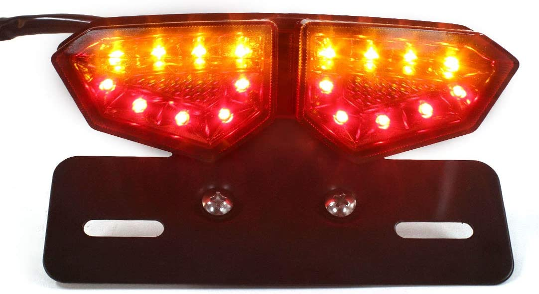 Sourcingmap Universal Motorcycle 12V 30W Red Integrated Brake Tail Turn Signal Rear Light