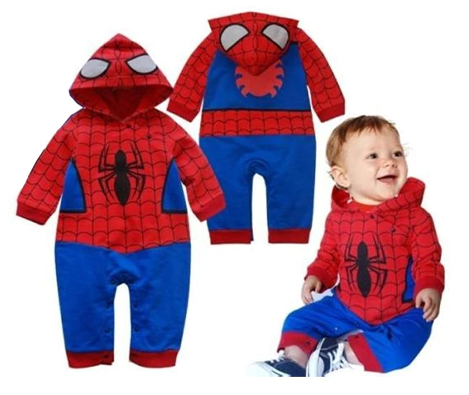 Toddler Baby Boy Spider-man Inspired Hoodie Romper Costume