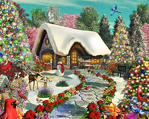 Vermont Christmas Company Snowy Delight Jigsaw Puzzle 1000 Puzzle -