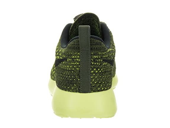 cc2bc6a1e653 Nike Women s Roshe One Flyknit Rough Green Blck VLT Lt Lqd Lm Running Shoe  5. 5 Women US  Amazon.in  Shoes   Handbags