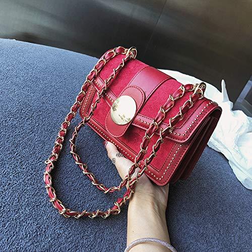 Borsa Moda A Tracolla Shining Con Bag Monocolore Bellecita Tinta Catena Rococò E Unita rossa Noble xfnvFZ