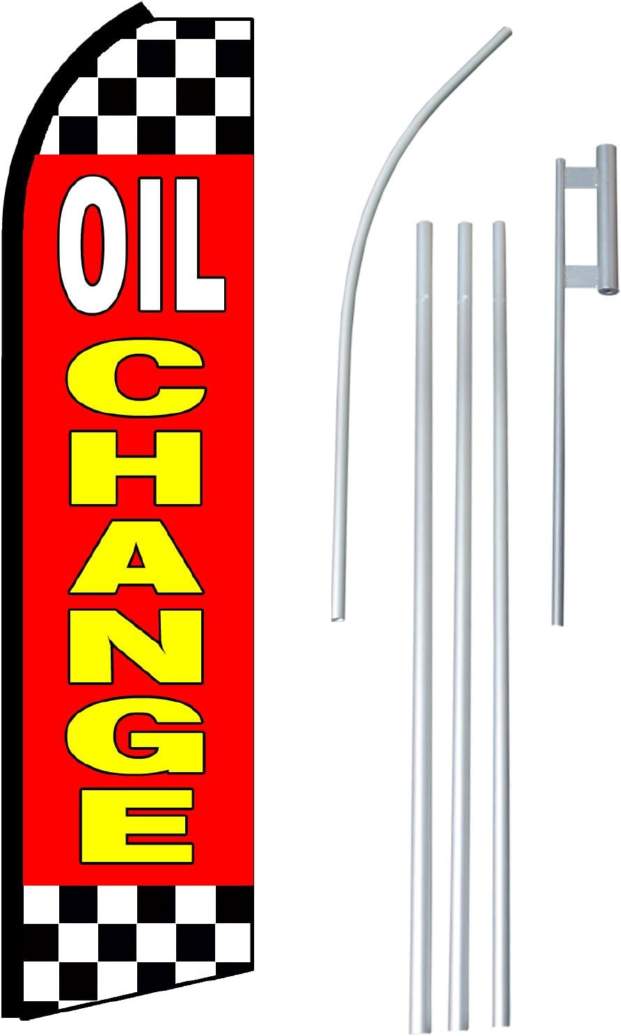 Oil Change King Size Polyester Swooper Flag Pack  of 2 HARDWARE NO INCLUDED