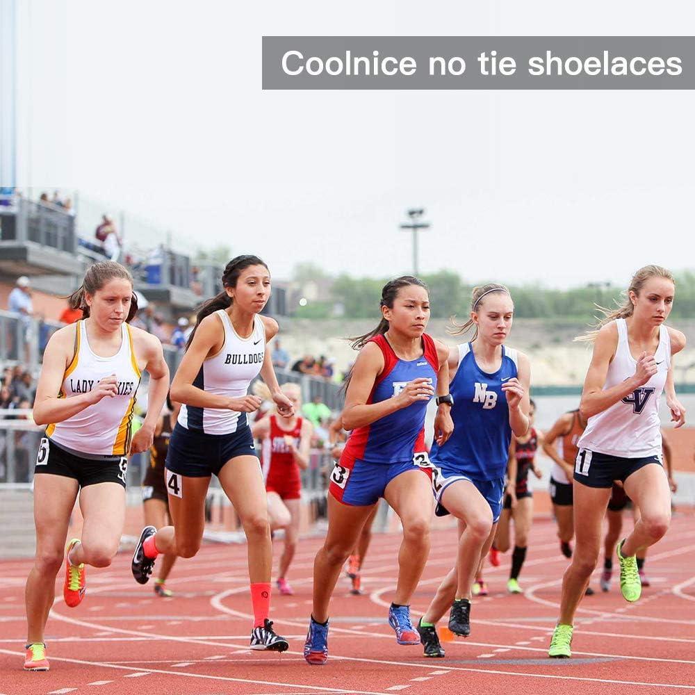 coolnice Lacets Elastiques No Tie Lacets pour Chaussures Enfants Adultes Pratique Imperm/éables Silicon Etanche sans La/çage pour Sports Shoes Sneaker Conseil Bottes