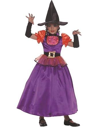 Child Orange and Purple Witch Fancy Dress Costume: Amazon.co.uk ...