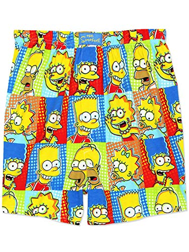 The Simpsons Family Men's Briefly Stated Boxer Shorts Underwear (XX-Large, Multi) ()