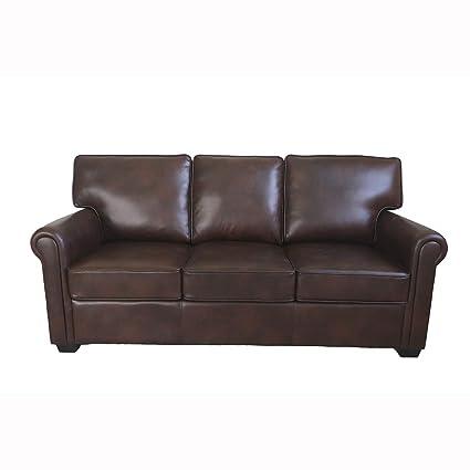 Amazon.com: WITLIFCH 3-Seater Artificial Leather Sofa Dark ...