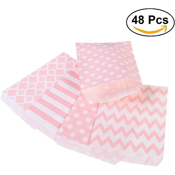 NUOLUX 48pcs bolsos rayados del regalo del papel del ...