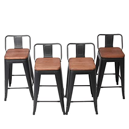 Amazoncom Changjie Furniture 26 Inch Swivel Metal Bar Stool Stack