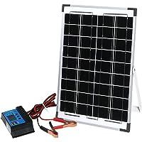 12V 10W Solar Panel Kit Mono Caravan Home Regulator RV Camping Power Charging