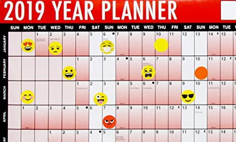 Calendrier Planning 2019.2019 A1 Lamine Yearly Calendrier Planning Mural Avec