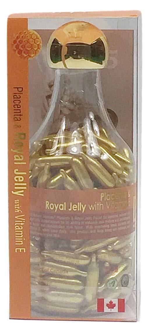 BILL Lamb Placenta Facial Oil with Vitamin E 200capsules (Royal Jelly) Bill Natural Sources