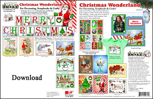 ScrapSMART - Christmas Wonderland Software - for Crafts, Cards, Sewing and Quilting - Jpeg and PDF Files [Download] (Pdf Christmas Crafts)