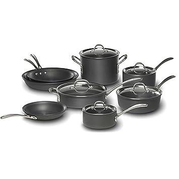 Calphalon juego de 13 duro anodizado utensilios de cocina Set: Amazon.es: Hogar