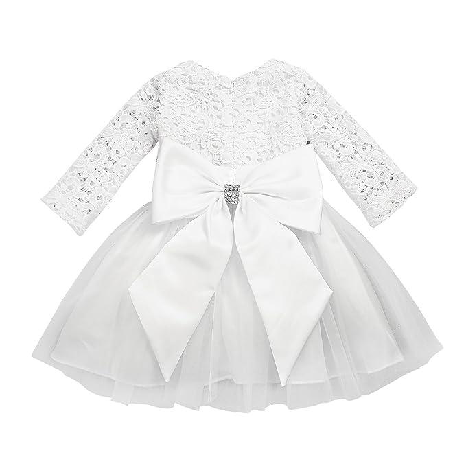 Amazon.com: FEESHOW Baby Girls Long Sleeve Crochet Lace Flower ...
