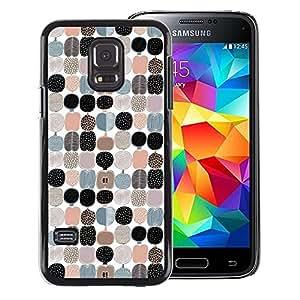 A-type Arte & diseño plástico duro Fundas Cover Cubre Hard Case Cover para Samsung Galaxy S5 Mini, SM-G800 (Apple Pattern White Black Teal Peach)