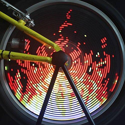 Bazaar 96 rgb LED bicyclette lumière de roue de vélo LED bicyclette lumière parlé lampe vélo léger