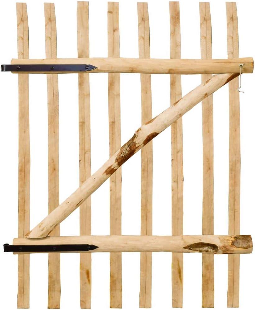 vidaXL Puerta para Valla de Jardín 100x150 cm Madera de Avellano Cancela Cerca: Amazon.es: Bricolaje y herramientas