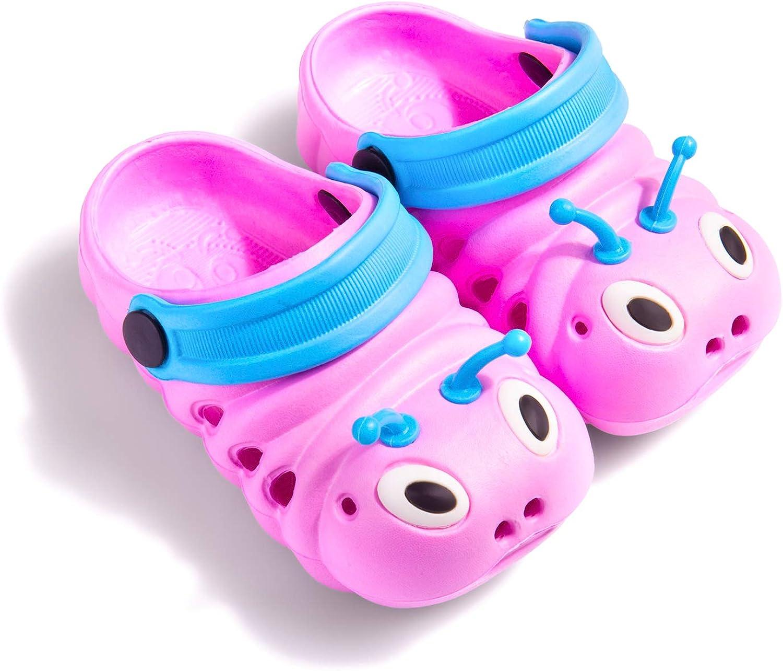 Baby Girls Boys Sandals Kid's Cute Lightweight Shoes Summer Premium Cartoon Sandals Children Caterpillar Non-Slip Beach Water Clogs Shoes Garden Slipper