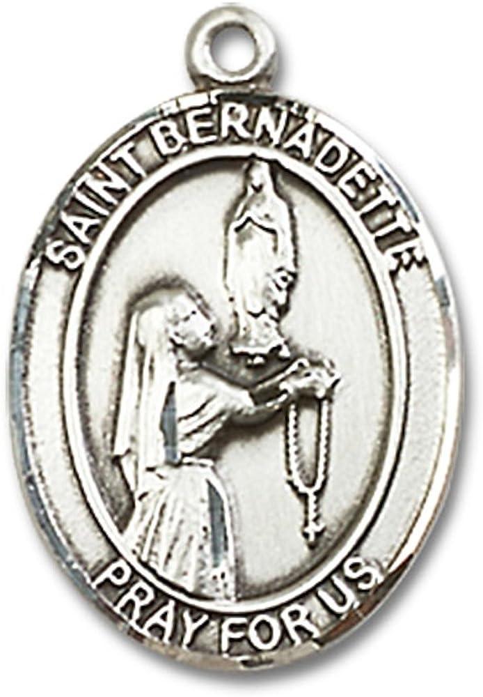 DiamondJewelryNY 14kt Gold Filled St Bernadette Pendant