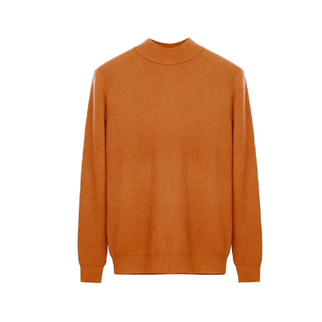 YUNY Men Turtleneck Pullover Oversize Colortone Pullover Sweater Blackish Green XL