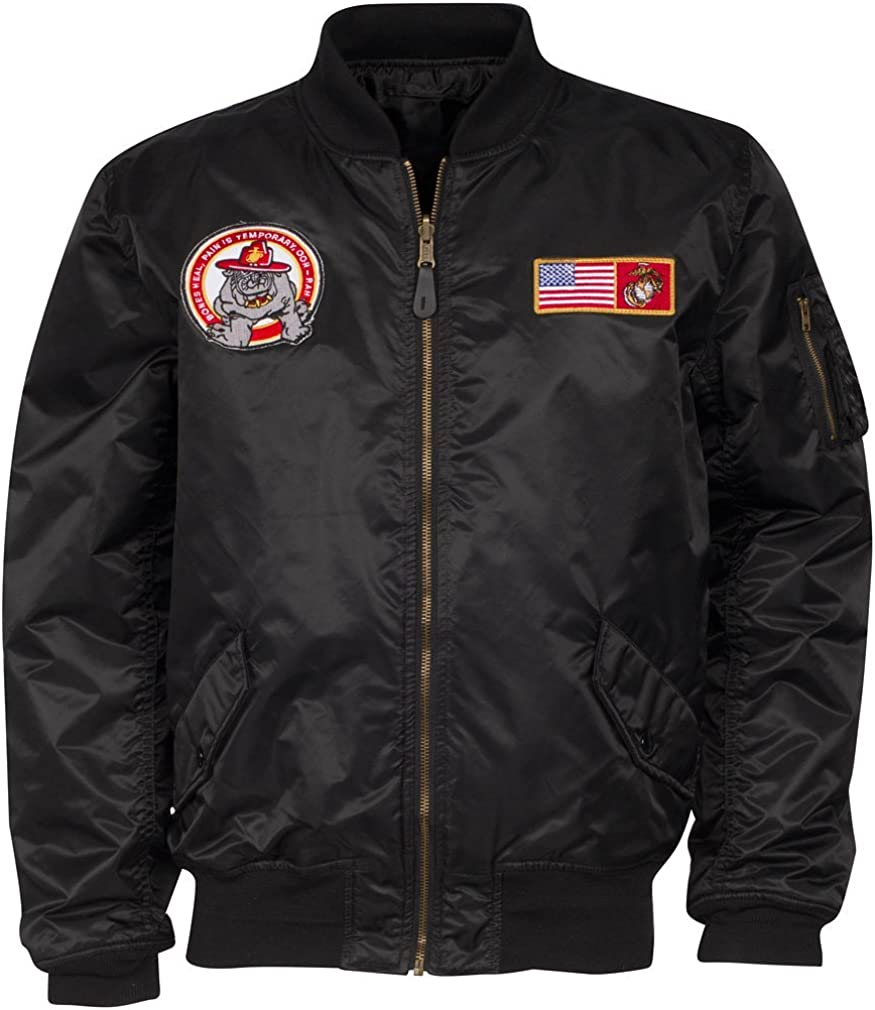 Alpha Industries de bandera de Estados Unidos Marines Youth de aviones de papel chaqueta color negro: Amazon.es: Ropa y accesorios