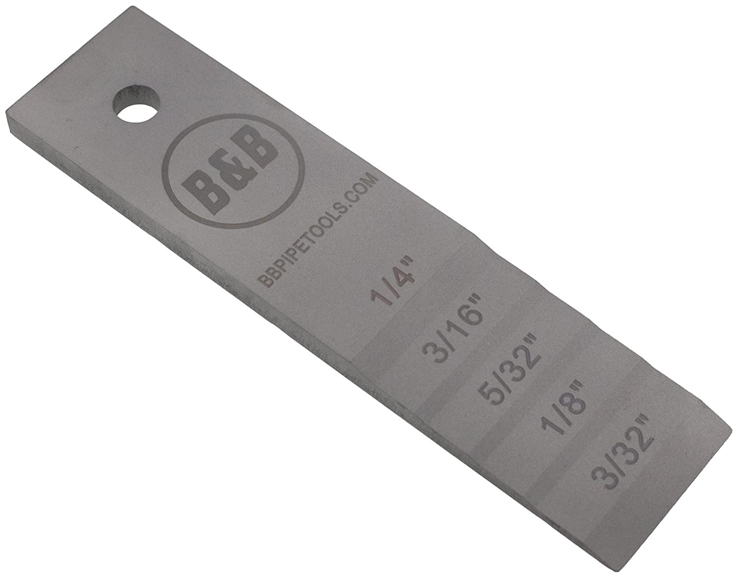 B/&B Pipe 2131 Stepped Pipe Wedge 1-1//2 Width x 6 Length for Pipe Fitting Welding Medium